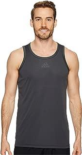 [adidas(アディダス)] メンズタンクトップ・Tシャツ Heathered Tank Dark Grey Heather Solid/Black 2XL (2XL) One Size [並行輸入品]