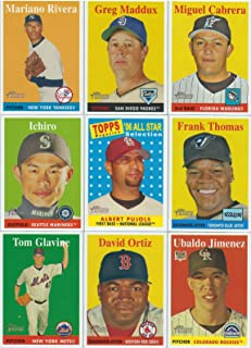 2007 Topps Heritage MLB Baseball Basic 385 Card Hand Collated Set with Stars and Hall of Famers Complete M (Mint)
