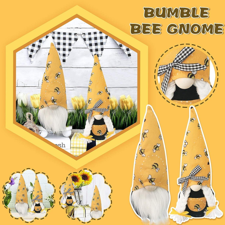 Lomelomme Biene Wichtel Oster Fr/ühling Bienenelfen Deko Festliche Geschenke Ostern Bee Puppe Tischdekoration Basteln Wichtel Deko Familie Festliche Geschenk f/ür Kinder