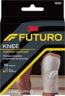 Futuro Comfort Lift Knee Support,  Low Profile and Flexible For Natural Range of Motion,  Mild Support,  For Right and Left Knees Medium