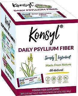 Konsyl Daily Psyllium Fiber, 100% All Natural Psyllium Husk Powder - Stickpacks 30ct