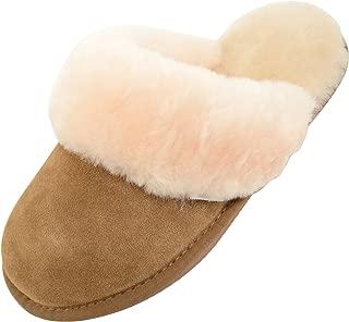 SNUGRUGS Women's Elsie Open Back Sheepskin Mule Slippers with Cuff