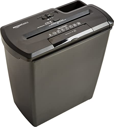 AmazonBasics 8-Sheet Strip Cut Paper with CD and Credit Card Shredder