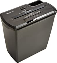 AmazonBasics PBH-55473 8-Sheet Strip-Cut Paper, CD, and Credit Card Shredder