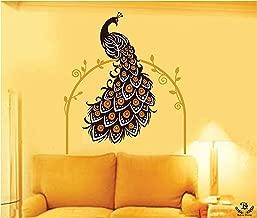 Kayra Decor 'Mesmerising Peacock' Reusable Wall Stencils/DIY Painting Tools/Durable Than Wall Stickers (PVC, 65-inch x 51-inch)