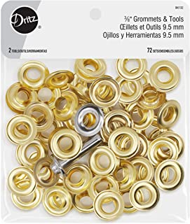 Dritz Grommets 3/8in Gold Includes Grommets & Tools Fasteners