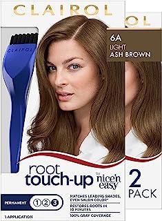 اللون كليرول الجذر اتصال ومتابعة الشعر الدائم كريم، 6A ضوء الرماد براون، 2 عدد