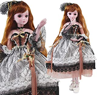 UCanaan BJD Dolls, 1/3 SD Doll 23.6 Inch 19 Ball Jointed Doll DIY Toys with Full Set Clothes Shoes Wig Makeup, Best Gift for Girls - Feiyi