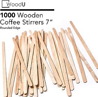Coffee Stir Sticks Round End, Eco Friendly Coffee Stirrers Dark Wood for Hot Drinks (7 inches)