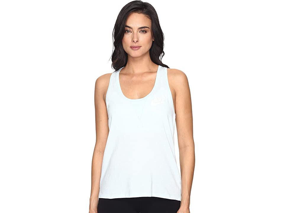 Nike Gym Vintage Tank Top (Glacier Blue/Sail) Women