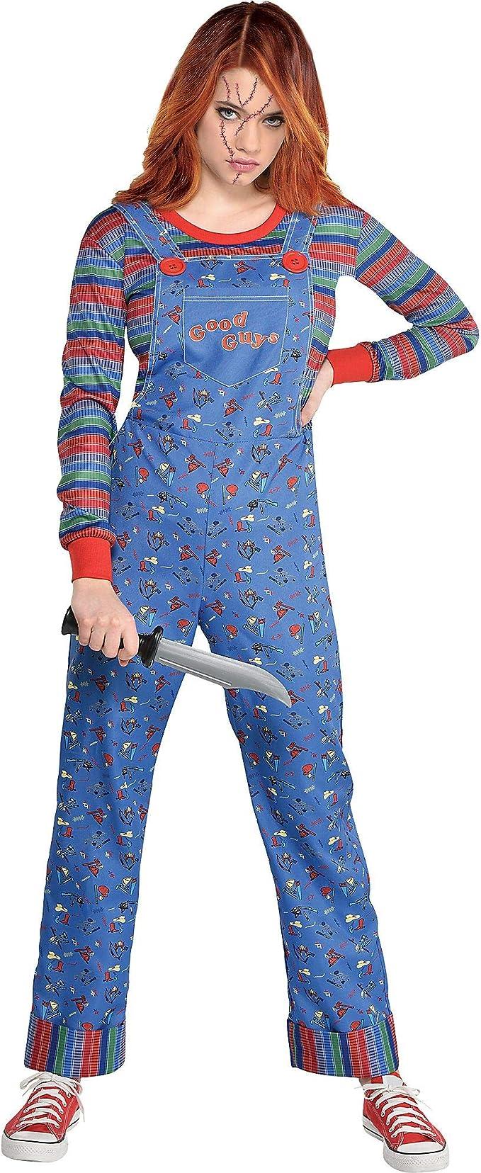 Party City Chucky Disfraz de Halloween para mujer, juego infantil incluye mono