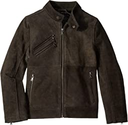 9e88012a Charcoal. 13. Urban Republic Kids. Cow Suede Leather Jacket ...