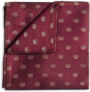 Boys Royal Burgundy Crown Hanky, One Size