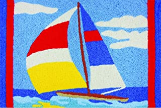 Jellybean Perfect Sail Sailboat on Water Washable 21 X 33 Inches Area Accent Rug