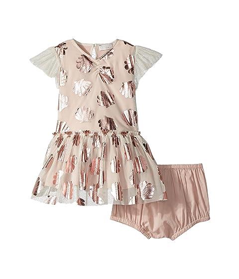 Stella McCartney Kids Bellie Seashell Print Tulle Dress (Infant)