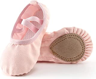 Move Dance Ballet Shoes for Toddler Girls Canvas Dance Slippers Dance Shoes