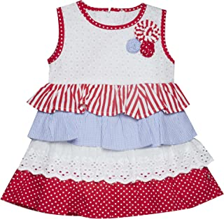 Little Kangaroos Baby Girl Dress, Red - ROGS2019954A