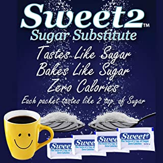 Sweet2 is the best tasting alternative sugar substitute you will ever use. Zero Calories, less than 1 gram of carbs, Perfect for Diabetics, Keto, Atkins, Whole-30 & Low Carb Diets. (150)