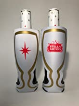 Stella Artois 12 Ounce Chalice Shaped Bottle Beer Can Cooler - 2 Pack