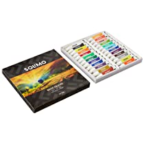 Amazon Brand – Solimo Water Colour Paints, Set of 24 Assorted Shades, 5ml Tubes