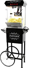 Paramount 8oz Popcorn Maker Machine & Cart - New Upgraded Feature-Rich 8 oz Hot Oil Popper [Color: Black]