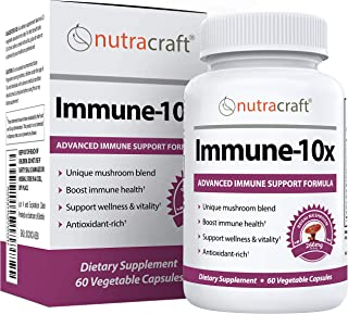 Immune-10x Immune Support Mushroom Complex | Formulated for Immune System and Antioxidant Support With 10 Key Mushrooms | ...