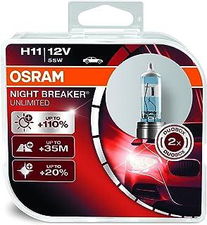 OSRAM 64211NBU-DUO NIGHT BREAKER UNLIMITED H11, Halogen headlamp, 64211NBU-HCB, 12V passenger car, duo box (2 lamps)