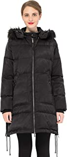 Orolay Women's Winter Thicken Down Coat with Removable Hood
