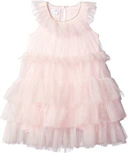Mesh Tiered Sleeveless Party Dress (Infant)