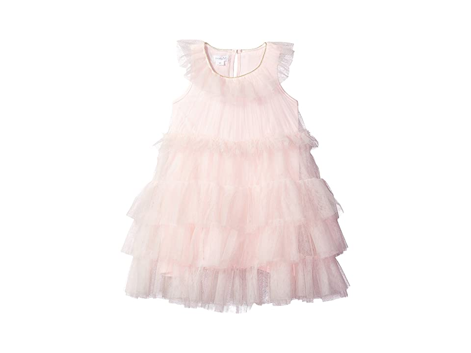 Mud Pie Mesh Tiered Sleeveless Party Dress (Infant) (Pink) Girl