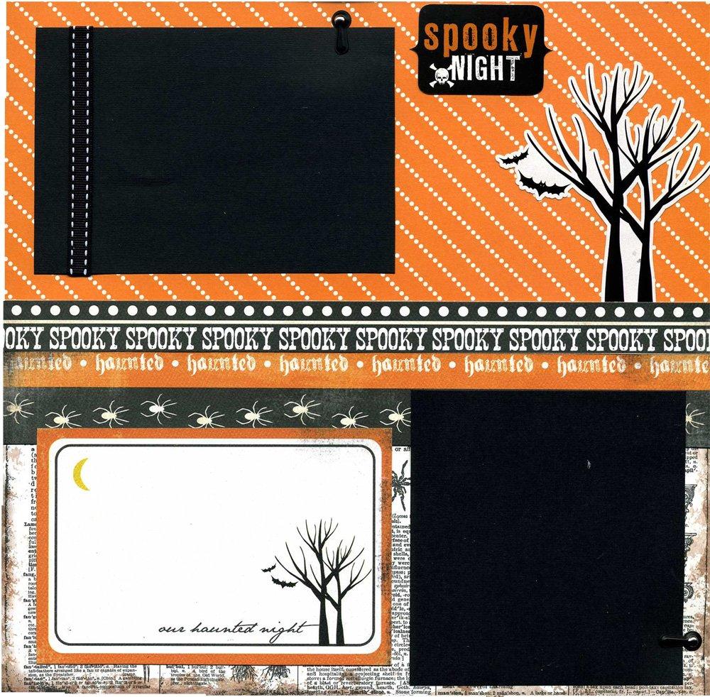 Spooky Night - Premade Scrapbook wholesale Luxury goods Page
