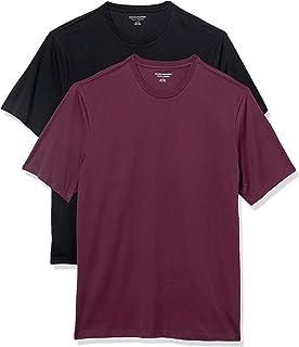 Amazon Essentials paquete de 2 camisetas de cuello redondo de manga corta para hombre