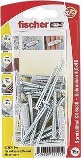 fischer 052121 spreidplug GKS K SB-kaart, inhoud pluggen SX 6 x 30, 15 x houtschroef 4,5 x 40