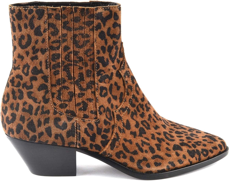 ASH Footwear Future Tan Leopard Leopard Print Ankle Stiefel  heiße limitierte Auflage