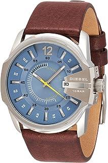 Diesel Master Chief Men's Blue Dial Leather Analog Watch - DZ1399