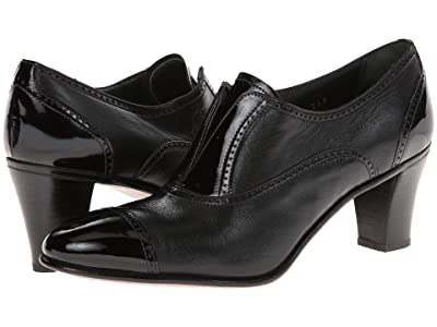 Gravati Cap Toe Mid-Heel (Black) High Heels
