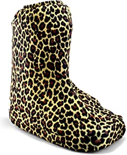 My Recovers Walking Boot Cover for Fracture Boot, Fashion Cover in Leopard, Sizes Extra Small to Large, Short Boot, Made in USA, Orthopedic Products Accessories (Small)