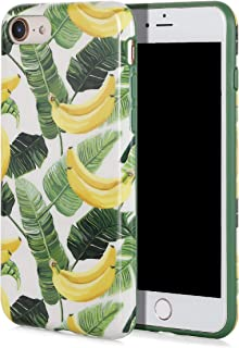 SunshineCases【Tropical Banana Leaves】 Flexible, Thin, Non-Slip Case Design【Compatible: Apple iPhone 8 & iPhone 7】