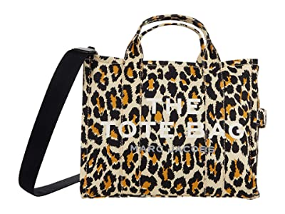 Marc Jacobs Leopard Small Traveler Tote (Natural Multi) Tote Handbags