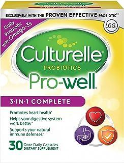 Culturelle 康萃乐 3合1每日益生菌补充剂,30粒胶囊 膳食补充剂,含有乳酸杆菌GG-研究的益生菌,加上Omega 3