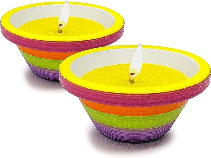 147 opinioni per HYOOLA- Candele alla citronella in terrina dipinta a mano, confezione da 2, 12