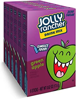 Jolly Rancher Singles-To-Go Sugar Free Green Apple Drink Mix, 6-ct (Pack of 6) by Jolly Rancher
