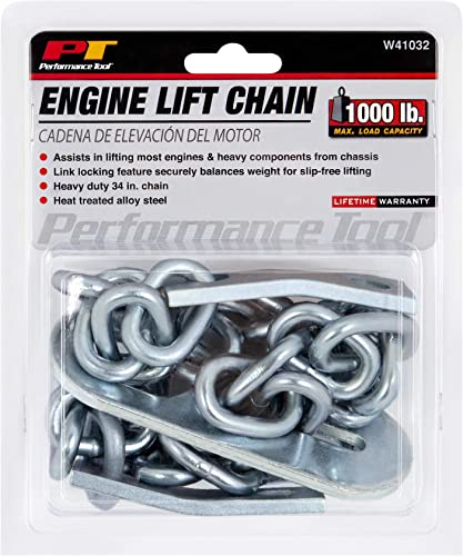 """lowest Performance Tool W41032 Engine online Lift Chain for Car and Truck Maintenance, 34"""", 1/2 new arrival Ton (1,000 lbs.) Capacity online"""