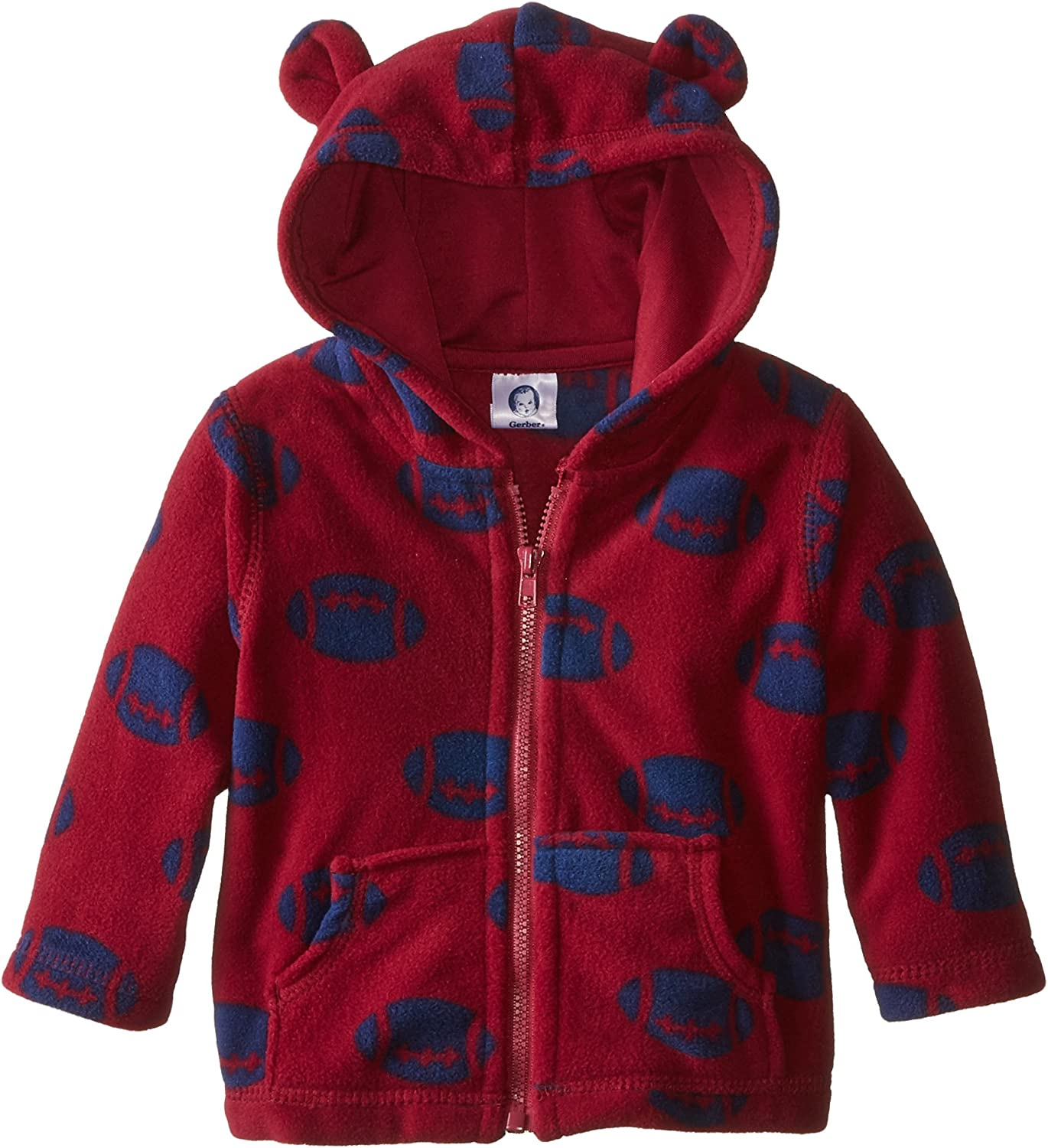 Gerber baby-boys Hooded Micro Fleece Jacket