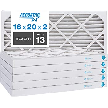 Made in USA Synthetic Wire-Backed Pleated Air Filter 18 Nom Height x 24 Nom Width x 2 Nom Depth 7 Pack