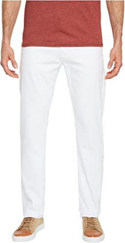 Everett Slim Straight Leg Denim in White
