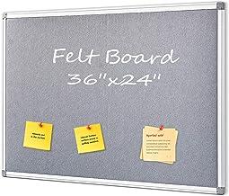 Swansea Felt Pin Board Gray Bulletin Boards Fabric Noticeboard Board for Offices Bedroom Kitchen,90x60cm