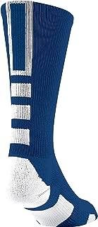 Baseline 2.0 Athletic Crew Socks (Navy/White, Large)