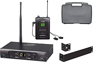 Audio2000'S AWM6308U UHF 100 Selectable Frequency Wireless In-Ear Monitor System with a PVC Carrying Case