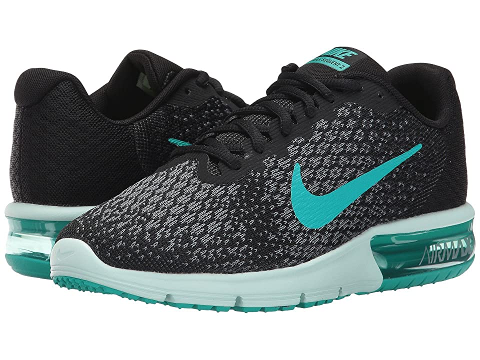 Nike Air Max Sequent 2 (Black/Clear Jade/Anthracite/Cool Grey) Women